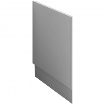 Nuie Athena Bath End Panel 580mm H x 700mm W - Gloss Grey Mist