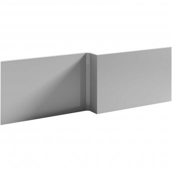Nuie Athena L-Shaped Bath Front Panel 520mm H x 1700mm W - Gloss Grey Mist