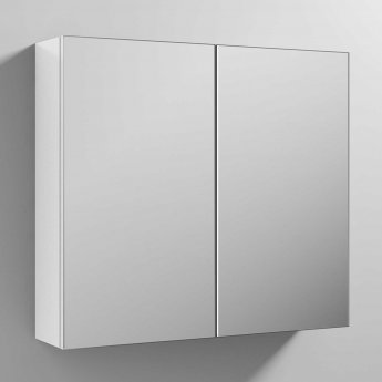 Nuie Athena Mirrored Cabinet (50/50) 800mm Wide - Gloss White
