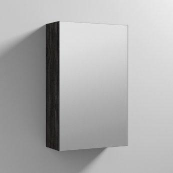 Nuie Athena 1-Door Mirrored Bathroom Cabinet 715mm H x 450mm W - Hacienda Black
