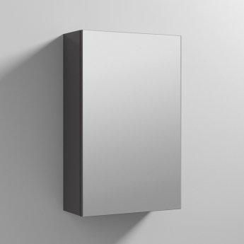 Nuie Athena 1-Door Mirrored Bathroom Cabinet 715mm H x 450mm W - Gloss Grey