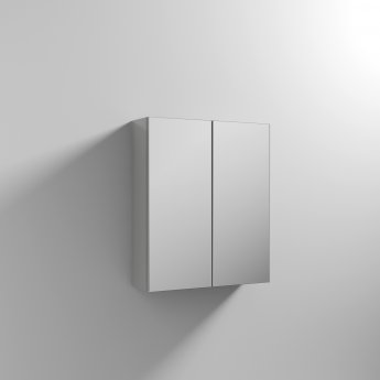 Nuie Athena Mirrored Cabinet (50/50) 600mm Wide - Gloss Grey Mist