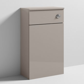 Nuie Athena Back to Wall WC Toilet Unit 500mm Wide - Stone Grey