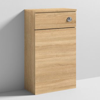 Nuie Athena Back to Wall WC Toilet Unit 500mm Wide - Natural Oak