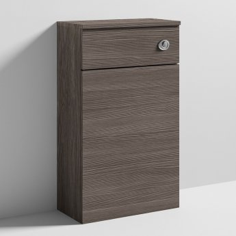 Nuie Athena Back to Wall WC Toilet Unit 500mm Wide - Brown Grey Avola