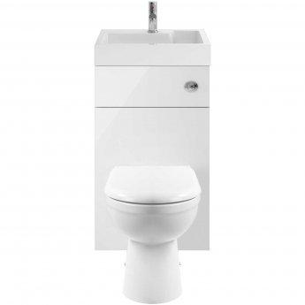 Nuie Athena Toilet and Basin Combination Unit - Soft Close Seat