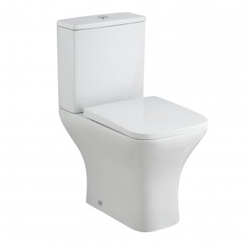 Nuie Ava Close Coupled Rimless Toilet WC Push Button Cistern - Soft Close Seat