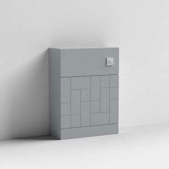 Nuie Blocks Back to Wall WC Unit 600mm Wide - Satin Grey