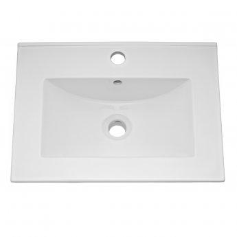 Nuie Blocks Floor Standing 2-Door Vanity Unit with Basin-2 500mm Wide - Satin Grey