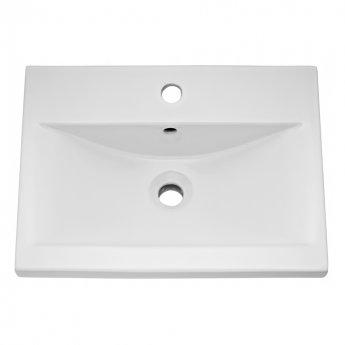 Nuie Blocks Floor Standing 2-Door and 1-Drawer Vanity Unit with Basin-1 500mm Wide - Satin White