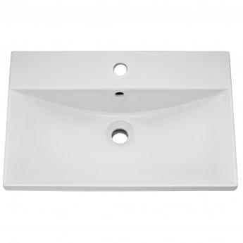 Nuie Blocks Floor Standing 2-Door Vanity Unit with Basin-3 600mm Wide - Satin White