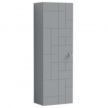 Nuie Blocks Wall Hung 1-Door Tall Storage Unit 400mm Wide - Satin Grey