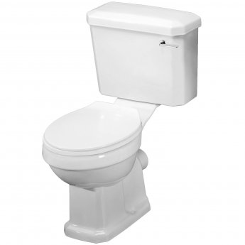 Nuie Carlton Close Coupled Toilet with Lever Cistern - Soft Close Seat