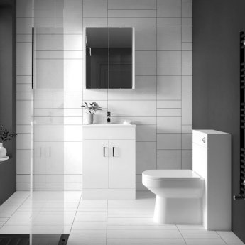 Nuie Design Back to Wall WC Toilet Unit 500mm Wide Gloss White