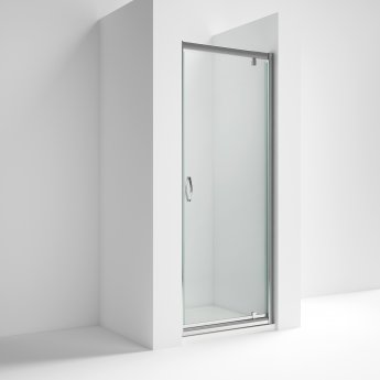 Nuie Ella Pivot Shower Door 700mm Wide - 5mm Glass