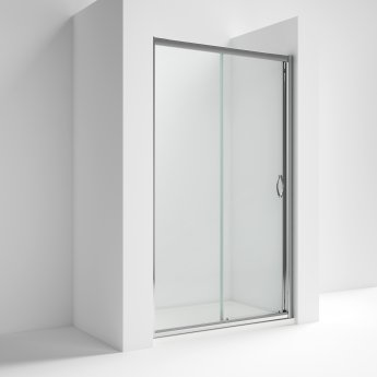 Nuie Ella Sliding Shower Door 1200mm Wide - 5mm Glass Chrome