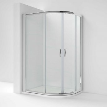 Nuie Ella Offset Quadrant Shower Enclosure 1200mm x 800 with Shower Tray RH 5mm
