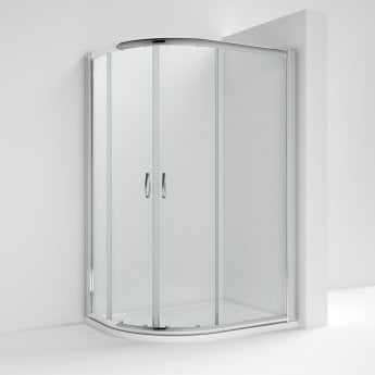 Nuie Ella Offset Quadrant Shower Enclosure 1200mm x 900mm with Shower Tray LH - 5mm Glass