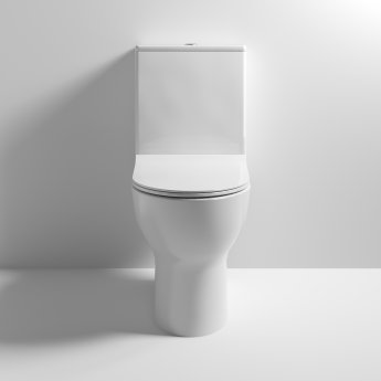 Nuie Freya Close Coupled Toilet with Push Button Cistern - Soft Close Seat