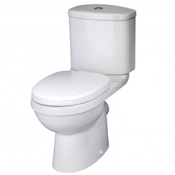 Nuie Ivo Close Coupled Toilet with Push Button Cistern - Soft Close Seat