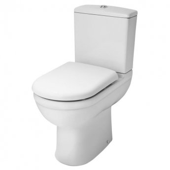 Nuie Ivo Comfort Close Coupled Toilet WC Push Button Cistern - Soft Close Seat