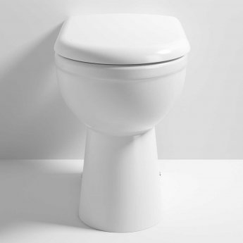 Nuie Ivo Comfort Back to Wall Toilet Pan - Soft Close Seat