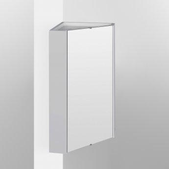 Nuie Mayford Corner Mirrored Bathroom Cabinet 459mm W White