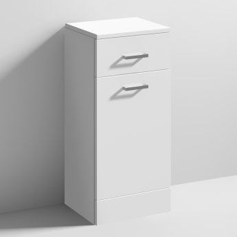 Nuie Mayford Laundry Basket 350mm Wide x 300mm Deep - Gloss White