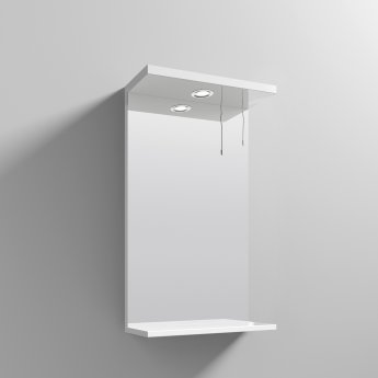 Nuie Mayford Complementary Bathroom Mirror 450mm W - Gloss White