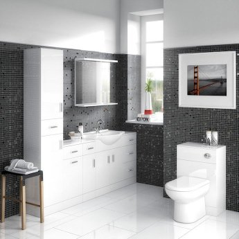 Nuie Mayford Complementary Bathroom Mirror 550mm W White