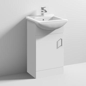 Nuie Mayford 1-Door Bathroom Vanity Unit with Basin 450mm Wide - 1 Tap Hole