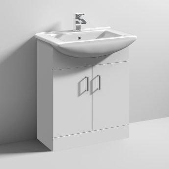Nuie Mayford 2-Door Bathroom Vanity Unit with Basin 650mm Wide - 1 Tap Hole