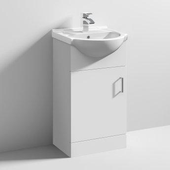 Nuie Mayford Bathroom Vanity Unit with Basin 450mm Wide - 1 Tap Hole