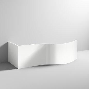 Nuie Acrylic B-Shaped Bath End Panel 500mm H x 700mm W - White