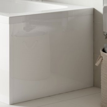 Nuie Acrylic Square Bath End Panel 500mm H x 700mm W - White