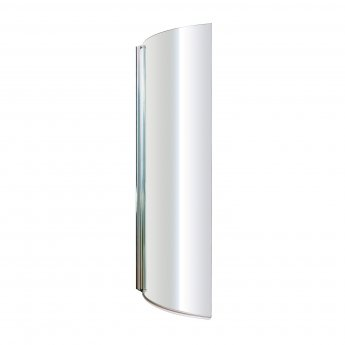 Nuie P-Shaped Shower Bath Screen, 1435mm High x 720mm Wide, 6mm Glass