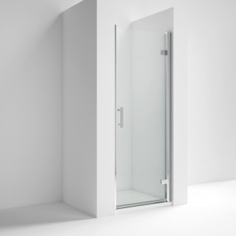 Nuie Pacific Hinged Shower Door Aqhd76 760mm Polished Clear