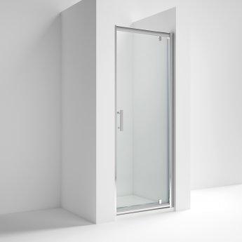 Nuie Pacific Pivot Shower Door 800mm Wide - 6mm Glass