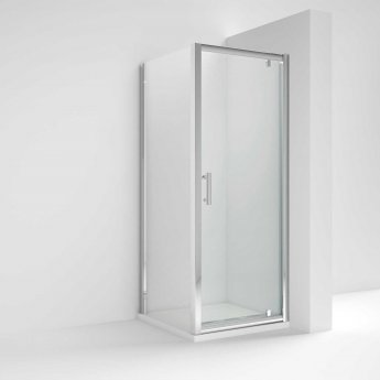 Nuie Pacific Pivot Shower Enclosure 760mm x 760mm with Shower Tray - 6mm Glass