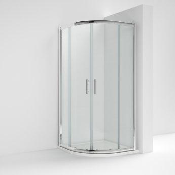 Nuie Pacific Quadrant Shower Enclosure 800mm x 800mm - 6mm Glass