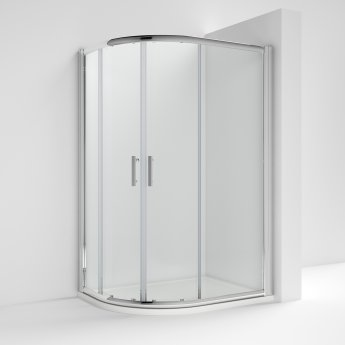 Nuie Pacific Offset Quadrant Shower Enclosure 1200mm x 900mm with Shower Tray LH - 6mm Glass