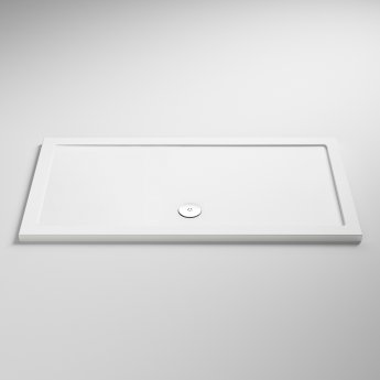 Nuie Pearlstone Rectangular Shower Tray 1400mm x 900mm - White