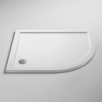 Nuie Pearlstone Offset Quadrant Shower Tray 1000mm x 900mm Right Handed
