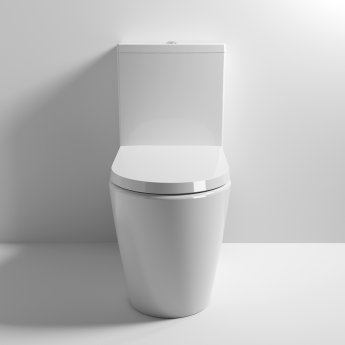 Nuie Provost Close Coupled Toilet WC Push Button Cistern 670mm Projection - Excluding Seat
