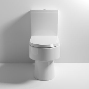 Nuie Provost Close Coupled Toilet WC with Push Button Cistern - Excluding Seat