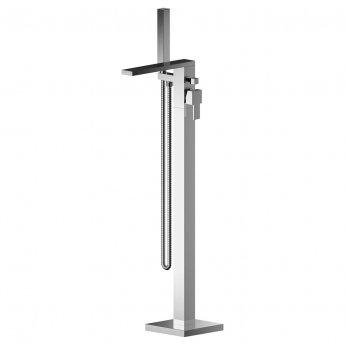 Nuie Sanford Freestanding Bath Shower Mixer Tap with Shower Kit - Chrome
