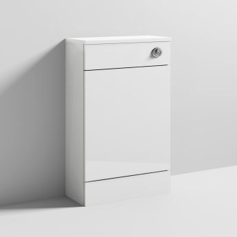 Nuie Saturn WC Unit with Concealed Cistern 500mm Wide - Gloss White