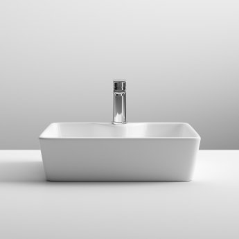 Nuie Vessels Square Countertop Basin 480mm Wide - 1 Tap Hole