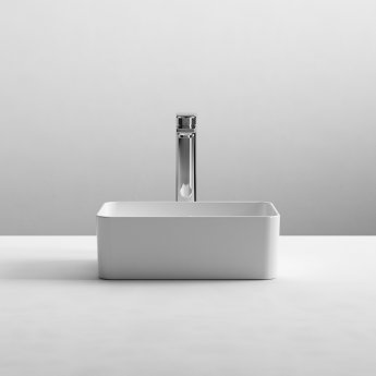 Nuie Vessels Rectangular Sit-On Countertop Basin 360mm Wide - 0 Tap Hole