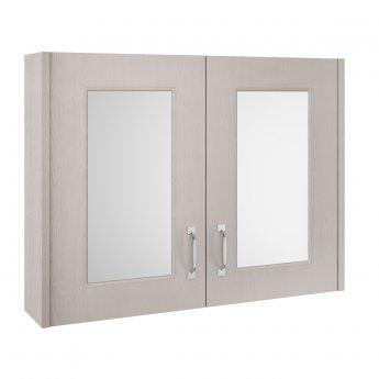 Nuie York Bathroom Cabinet | OLF215 | 790mm | Grey Woodgrain